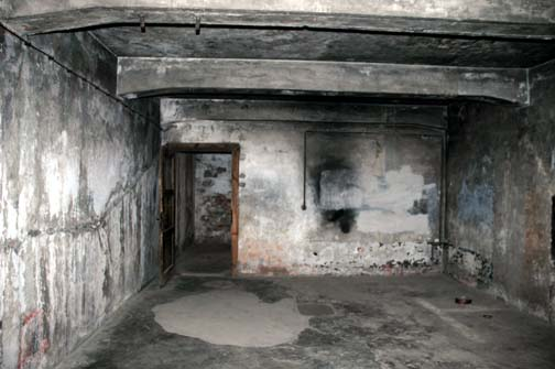 Back door into the Auschwitz gas chamber