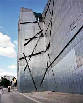 My photo of the front of the Jewish Museum in Berlin