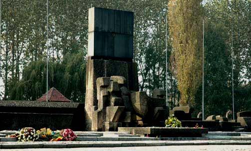 My photo of the Holocaust memorial at Birkenau