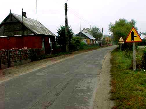My photo of the village of Poniatowa on the way to Treblinka