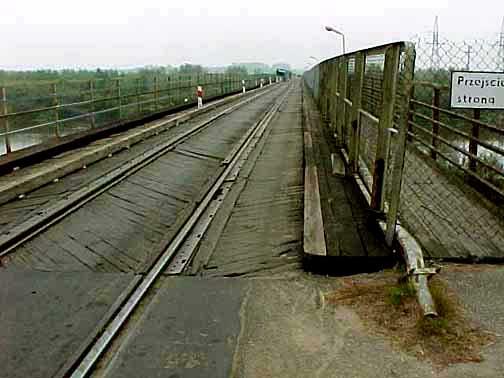 My photo of the bridge over the Bug river on the way to Treblinka