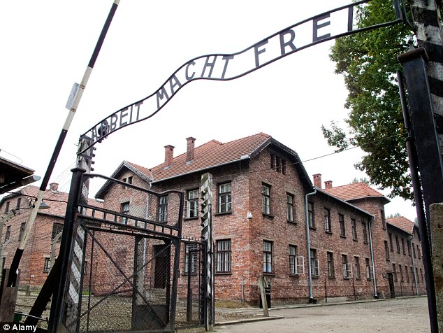 This photo of the gate into Auschwitz illustrated the article