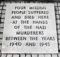 This stone was displayed at Auschwitz-Birkenau