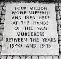 This stone was displayed at Auschwitz-Birkenau