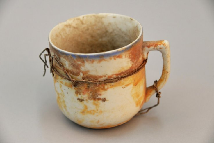 A cup that once belonged to a Jew who was murdered at Auschwitz