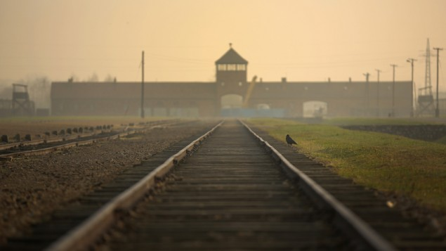 The inside of the Auschwtiz-Birkenau camp