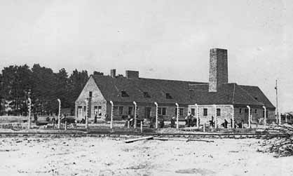 Old photo of Crematorium III at Birkenau