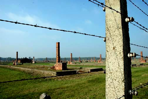 The ruins of the Birkenau camp