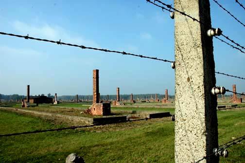The ruins of the Birkenau camp