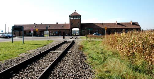 Tracks leading INTO the Auschwitz-Birkenau camp