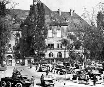 The building in the city of Nuremberg where the war crimes trials were held