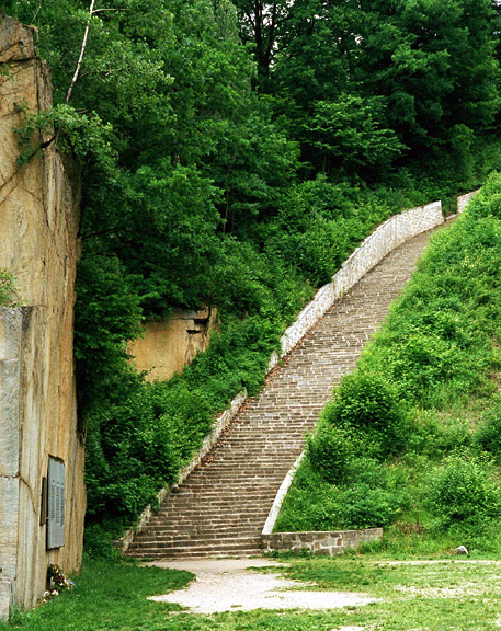 My photo of the Stairs of Death at Mauthausen