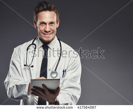 Doctor wearing a white lab coat