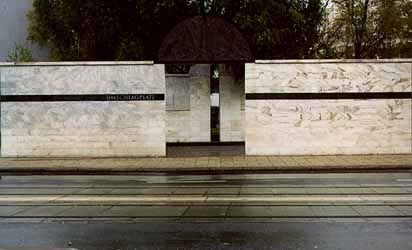 Monument at the place where the Jews were sent to Treblinka