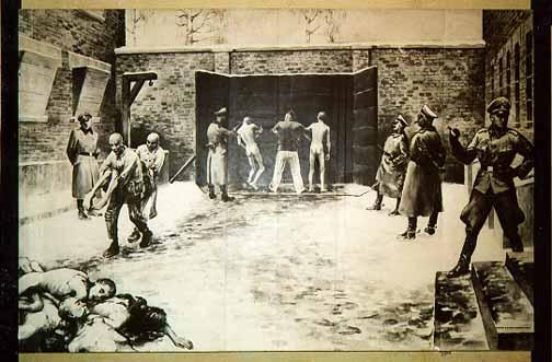 The black where prisoner were shot