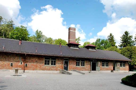 Baracke X where the Dachau gas chamber is located