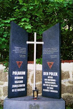 Marker in honor of Polish victims at Dachau
