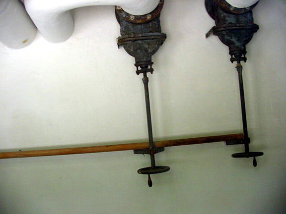 My photo of the pipes in the Dachau control room