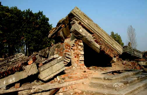 My photo of the ruins of Krema III gas chamber at Birkenau