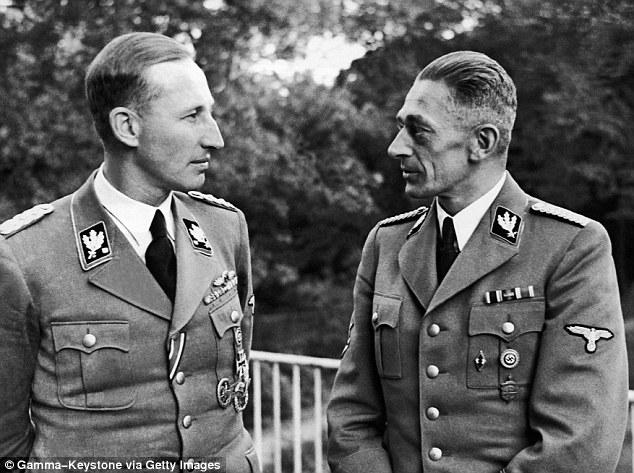 Reinhard Heydrich is the man on the left