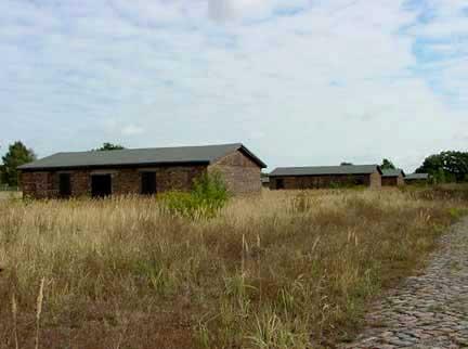 Barracks for German prisoners at Sachsenhausen