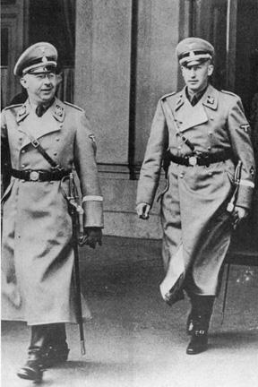 Heinrich Himmler and Reinhart Heydrich