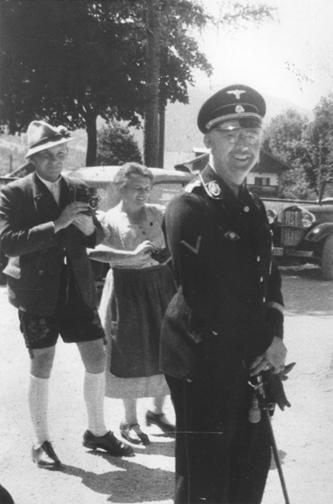 Heinrich Himmler out for a stroll in Bavaria