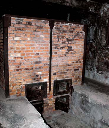 My photo of the rear of an Auscxhwitz oven