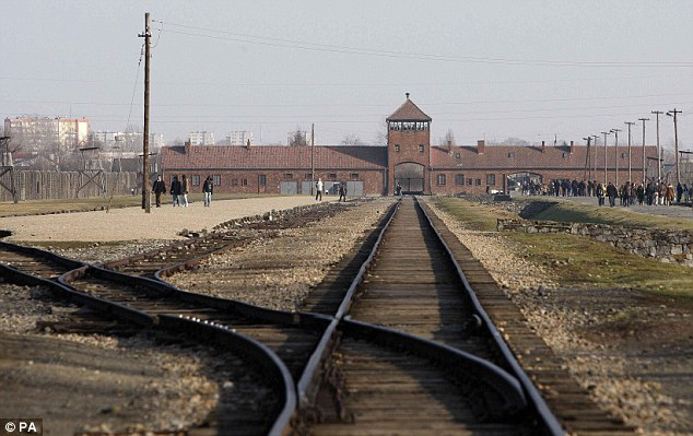 This photo of the Auschwitz-Birkenau is included in the news story