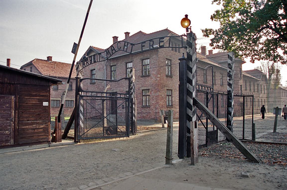 My photo of the gate into Auschwitz main camp