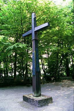 Christian cross on Leitenberg hill