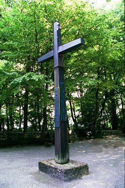 Christian cross on Leitenberg hill