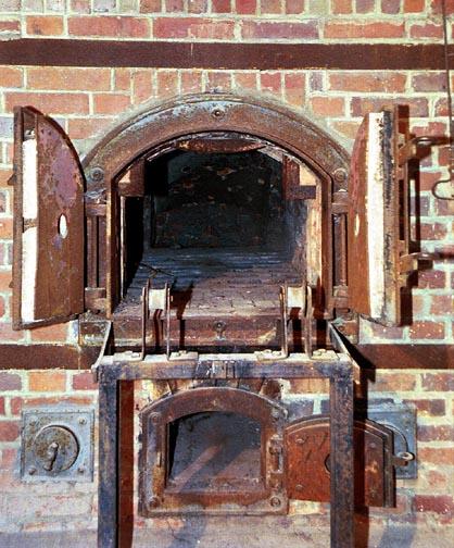 My 2001 photo of Dachau oven