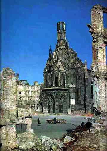 Nuremberg church that was bombed in World War II