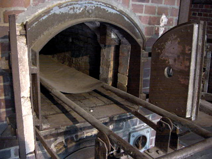 My photo of a cremation oven at Dachau