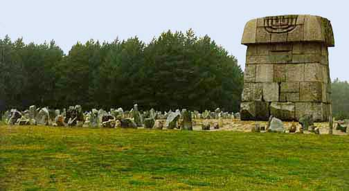 Symbolic cemetery behind Treblionka Monument