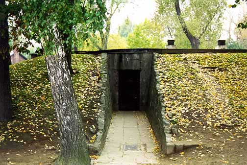 Front entrance into gas chamber in main camp