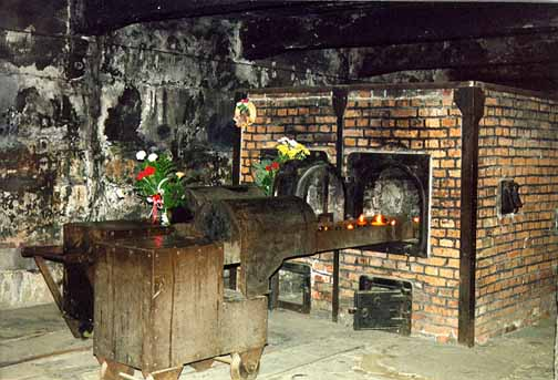 My 1998 photo of the ovens at Auschwitz