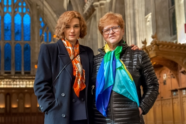 The actress who plays Debra Lipstadt is on the left and Lispstadt is on the right