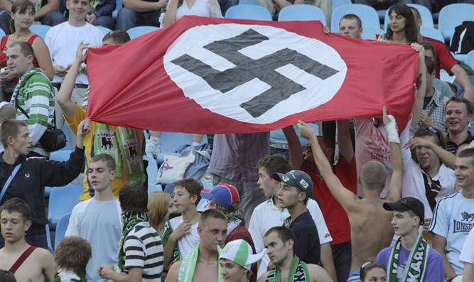 Nazi flag displayed at volleyball game