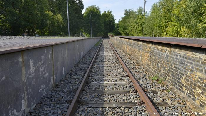 Railroad tracks in Berlin where Jews were put on trains and deported