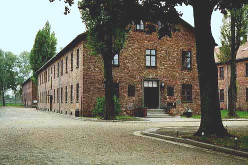 My 1998 photo of Building 15 at Auschwitz