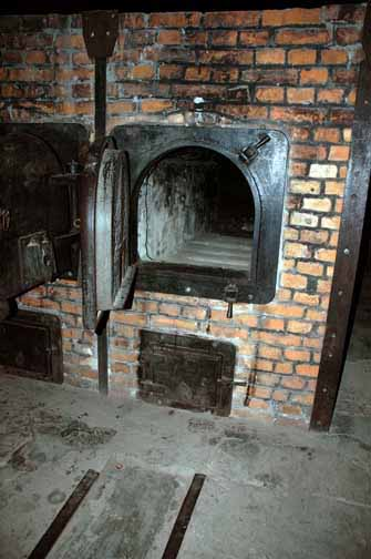 My photo of an oven at Auschwitz