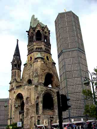 Ruined church in the heart of Berlin