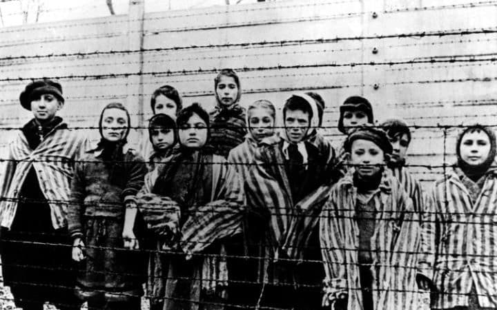 Children at Auschwitz-Birkenau who survived the Holocaust