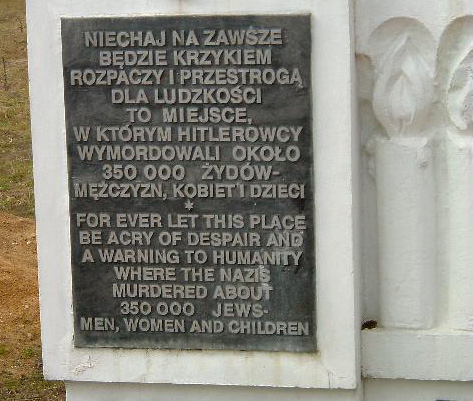 Memorial stone at Chelmno