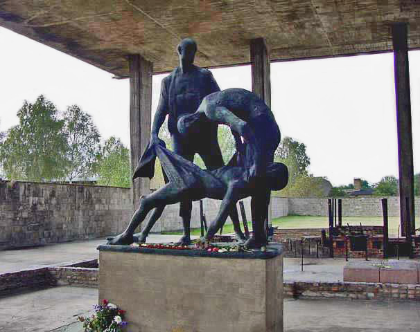 My photo of the sculpture at Sachsenhausen