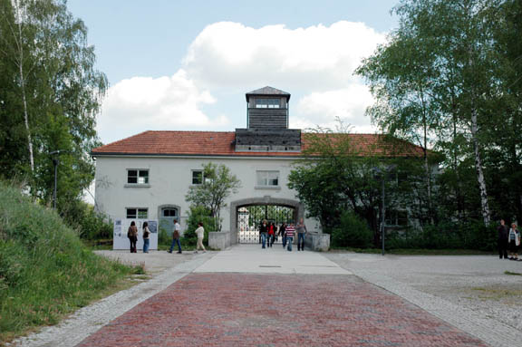The red brick road up to the Dachau gate