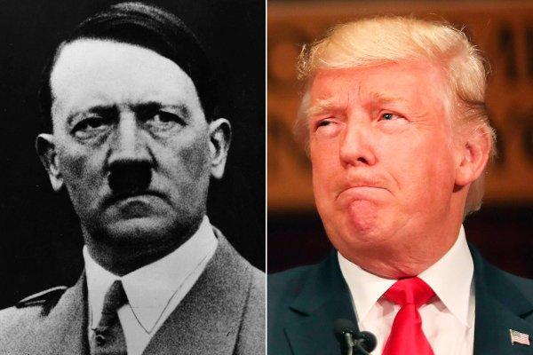 Adolf Hitler and Donald Trump
