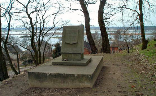 Monument on the banks of river Ner at Chelmno